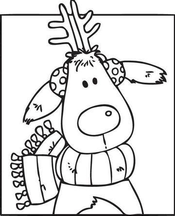 search results for cute reindeer coloring pictures