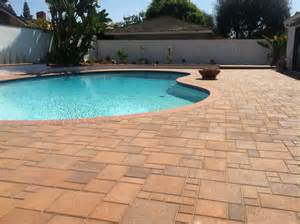 paver pool deck ocean pavers pool deck pavers installation orange county