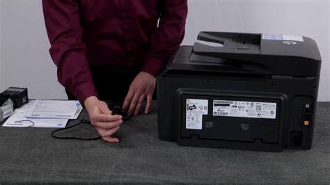 auspacken einrichten und installieren des druckers hp