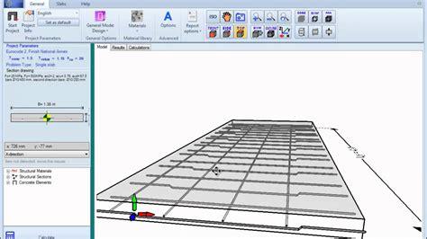 slab layout software one way reinforced slab design exle mp4 youtube