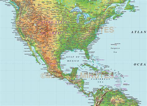 america map in pdf digital vector america medium relief map in