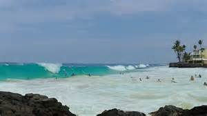 5 09 15 beach slamming waves kailua kona hawaii youtube