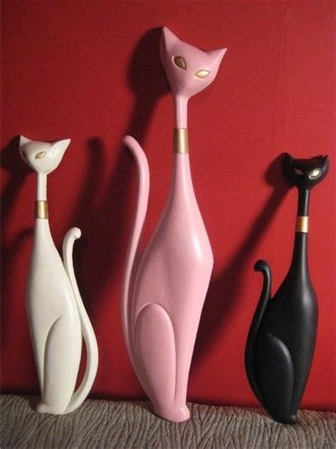 50s wall decor vintage mid century sexton cat wall hanging decor