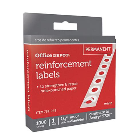 printable stickers office depot office depot brand permanent self adhesive reinforcement