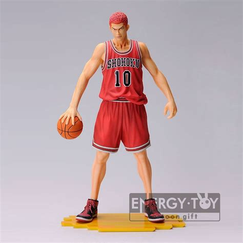 Figure Slamdunk Shohoku anime slam dunk shohoku no 10 hanamichi sakuragi with basketball model figure