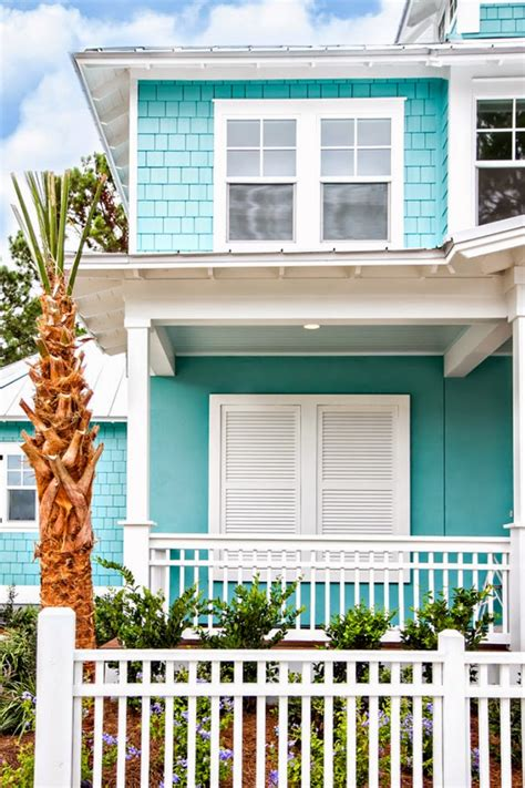 aqua house 10 bold colors to paint your home s exterior