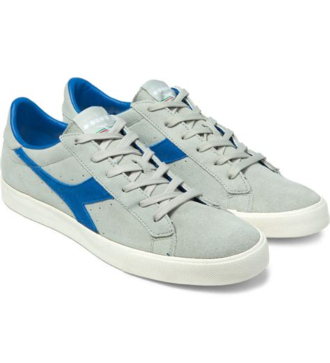diadora shoes diadora putty blue bell tennis 270 low shoes in blue for lyst