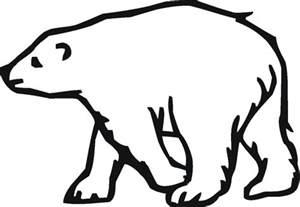 outline bear cliparts