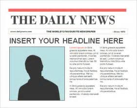 powerpoint newspaper templates doc 468351 newspaper headline template newspaper