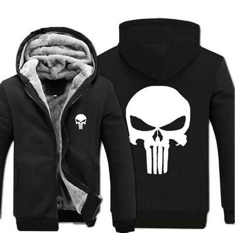 Jaket Zipper Hoodie Sweater Punisher Hitam 3 popular punisher hoodies buy cheap punisher hoodies lots from china punisher hoodies suppliers