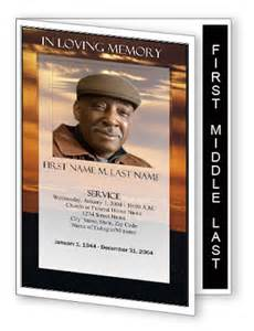 memorial phlets free templates funeral programme design