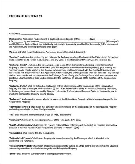 barter agreement 28 images trade contract template