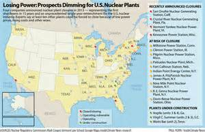 map of nuclear power plants in america 14 u s nuclear plants closing or at risk in photographs