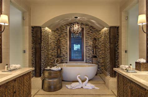 superior Bathroom Floor Tile Ideas #4: Beautiful-artistic-bathroom-design-ideas-with-wonderful-white-freestanding-oval-composite-stone-bathtub.jpg