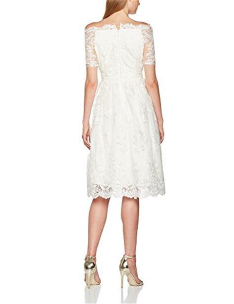 dorothy perkins s aravella bardot lace midi bridal dress