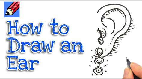how to do simple doodle how to draw an ear real easy spoken tutorial