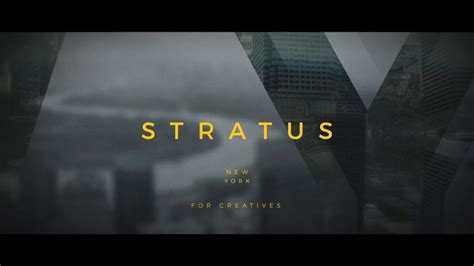 stratus hip title sequence after effects template