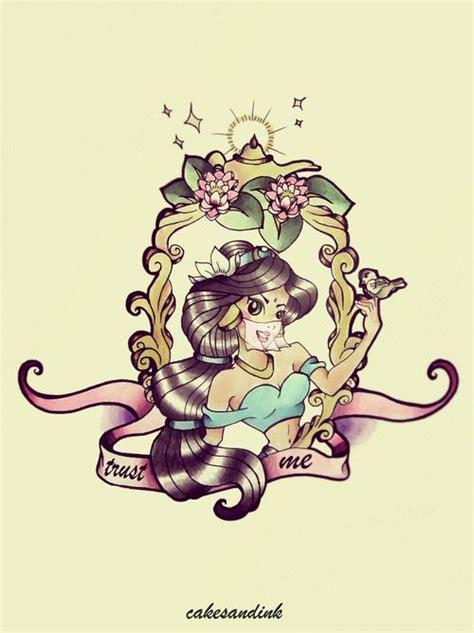 princess jasmine tattoo idea disney