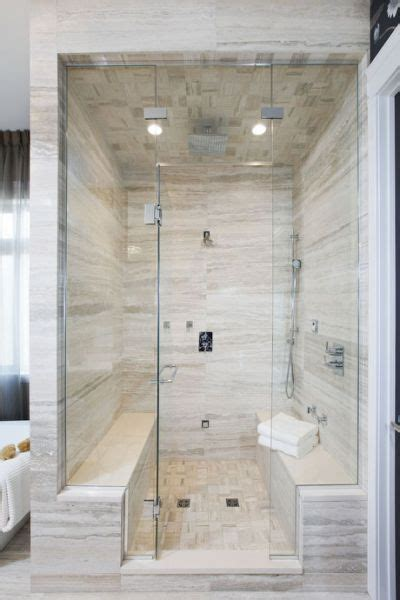 carerra marble custom steam shower master bath pinterest double bench master steam shower basements pinterest