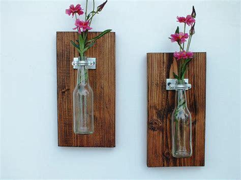 Hiasan Dinding Vintage Kayu Wall Decor Kayu Vw01 handmade hanging glass bottle vase set of from aldarlane