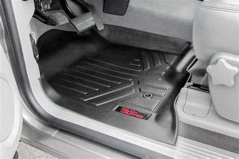 gmc truck floor mats heavy duty fitted floor mat set front rear for 2014 2018