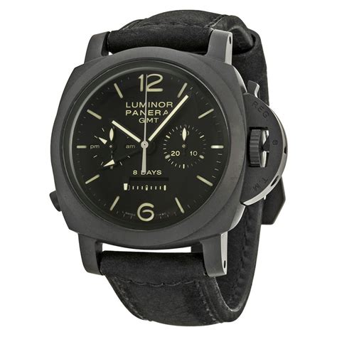 Luminor Panerai Chrono Leather 2 panerai luminor 1950 automatic chronograph black black leather s pam00317