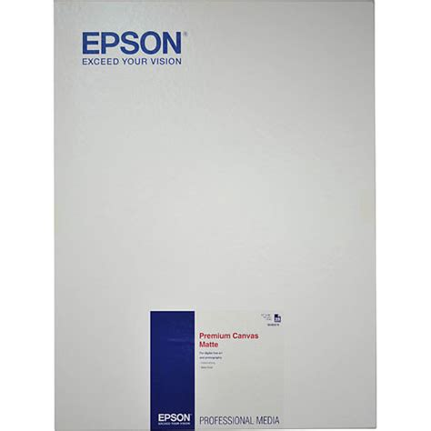 Canvas Import Premium 17 epson premium matte canvas 375gsm for inkjet 17 x s045078
