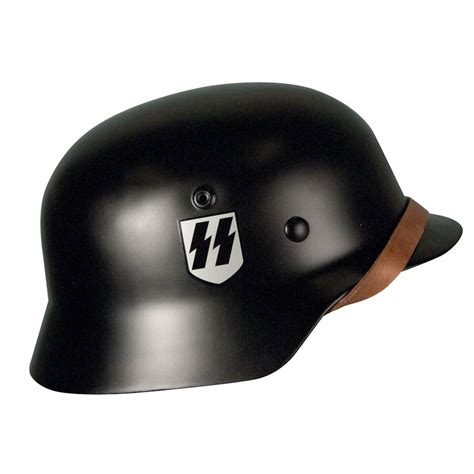 New Helmet Special Black Size M Nyaman wwii m40 german combat helmet black ss reddick militaria