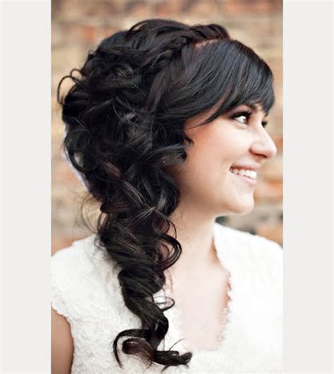 Wedding Hairstyles Hair With Bangs by 40 Beautiful Brides With Bangs Mon Cheri Bridals