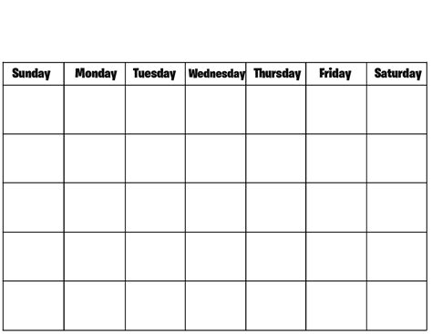 Printable School Template by Blank Calendar Printable Calendar Templates