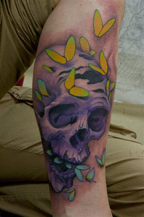 tattoo butterfly and skull off the map tattoo tattoos jeff gogue untitled