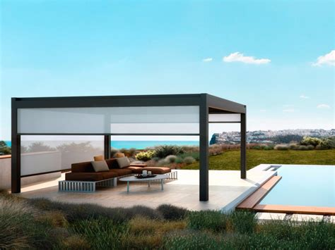 pavillon 5x4 freestanding aluminium pergola nomo pergolas collection by