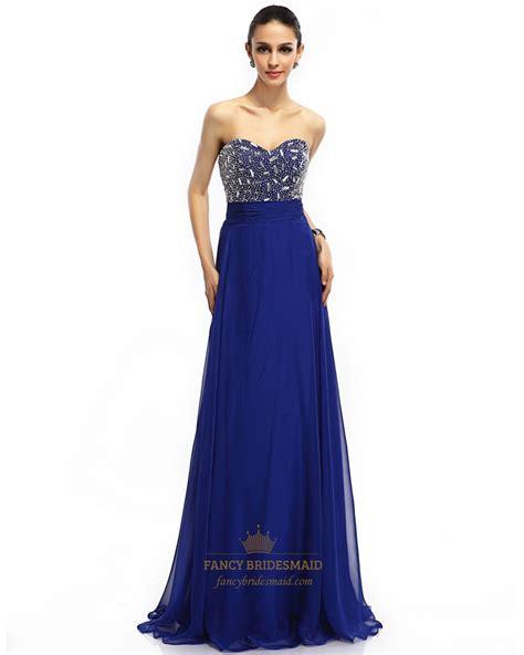royal blue beaded dress royal blue chiffon sweetheart beaded bodice prom
