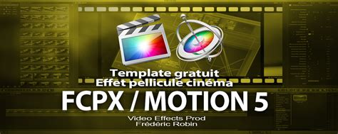 free template fcpx motion 5 effet cin 233 ma perforations