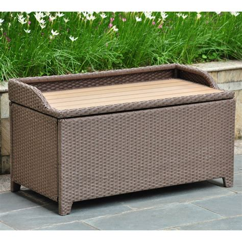outdoor plastic storage bench outdoor storage bench