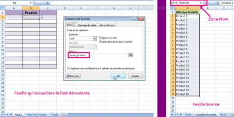 tutorial excel 2010 liste deroulante cr 233 er une liste d 233 roulante excel