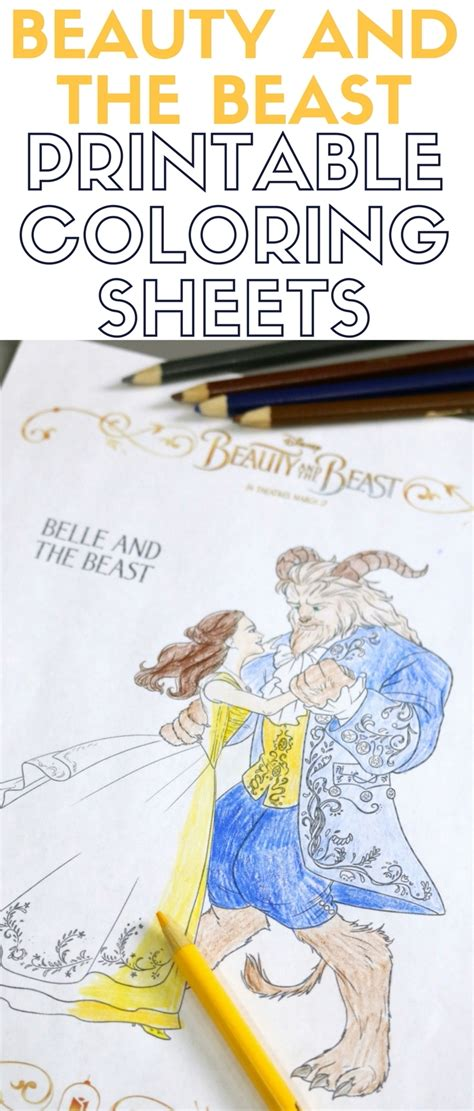 printable version of beauty and the beast beauty and the beast printable coloring sheets the