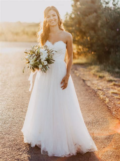 White Lien Wedding Dresses by Exquisite Sweetheart Floor Length A Line White Wedding
