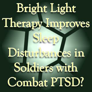 light therapy for ptsd bright light therapy may help avoid sleep disturbances in