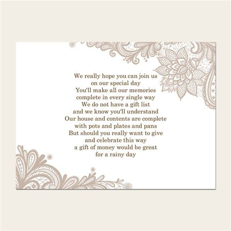 wedding poems for cards gift poem cards lace from dotty about paper