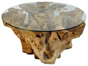 Tree Trunk Glass Coffee Table Teak Tree Trunk And Glass Coffee Table Color