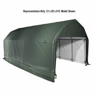 shelterlogic 12 x 20 x 9 barn style portable garage canopy