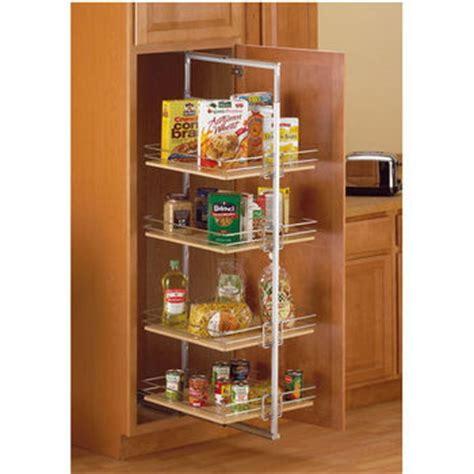 Kitchen Pantry Accessories by Pantry Organizers Frosted Nickel Center Mount Roll Out