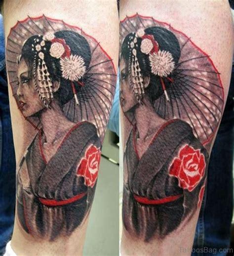 geisha tattoo on leg 59 graceful geisha tattoos for leg