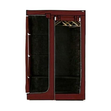 Lemari Pakaian Maroon jual nine box portable lemari pakaian dw maroon