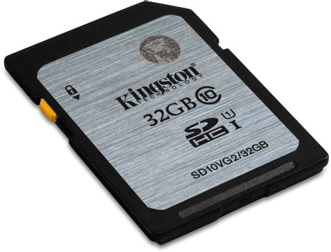 Kingston Sdhc Class 10 Uhs I 32gb Sd10vg2 32gbfr kingston class 10 uhs i sdhc 32gb specificaties tweakers