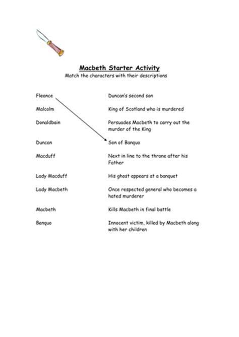 printable version of macbeth macbeth worksheets worksheets releaseboard free