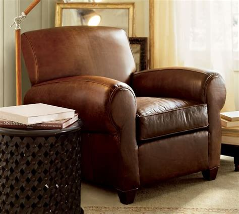 Pottery Barn Manhattan Sofa by Manhattan Leather Armchair Pottery Barn