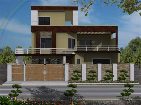 house plans for view house 3d front elevation com 10 marla house front elevations