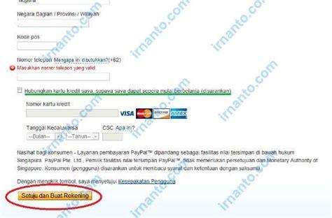 buat akun paypal primer cara singkat membuat akun paypal irnanto com
